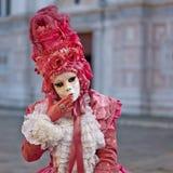 Venetian costume attends Carnival of Venice. Stock Photos