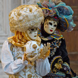 Venetian costume attends Carnival of Venice. Stock Photography