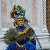 Venetian costume attends Carnival of Venice. Stock Photo