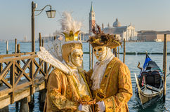 Venetian Costumes and Masks Royalty Free Stock Image