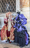 Venetian Costumes Scene Royalty Free Stock Photos