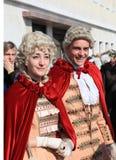 Venetian couple at Venice carnival Royalty Free Stock Image