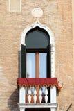 Venetian details. Old balcony. Stock Image