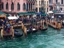 Venetian Dock Royaltyfria Foton