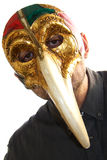 Venetian doctor mask bird beak Royalty Free Stock Photography