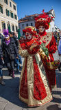 Venetian dräkter Royaltyfria Bilder