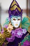 venetian färgrik dräkt Royaltyfri Fotografi