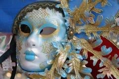 venetian färgrik maskering Arkivbilder