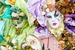 venetian färgrika maskeringar Royaltyfri Foto