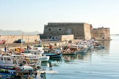 Venetian fästning i den Heraklion Kreta Grekland Arkivbild