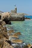 Venetian fästning i den Naousa staden, Paros ö, Cyclades Royaltyfria Bilder