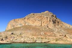 Venetian fästning på ön Gramvousa, Grekland Arkivfoton