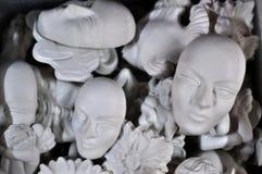 Venetian face mask white. Venetian face mask on white Stock Photography