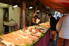 Venetian fish market Royalty Free Stock Photos