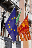 Venetian flag Stock Photos