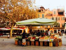 Venetian food stall. In a piazza Stock Photography