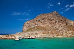 Venetian fort at Imeri Gramvousa island Crete Greece Stock Image