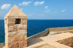 Venetian Fortezza or Citadel in Rethymno, Crete, Greece Royalty Free Stock Image