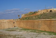 Venetian fortification Walls of Chania in Greece Stock Photos