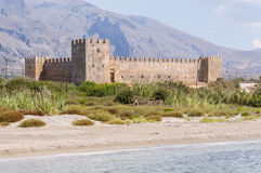 The Venetian Fortress Frangokastello at the southwest side of Crete Royalty Free Stock Photography