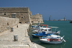 The Venetian fortress of Heraklion Stock Image