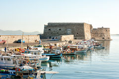 Venetian fortress in Heraklion Crete  Greece Stock Photography