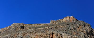 Venetian fortress on the island Gramvousa, Greece Stock Image