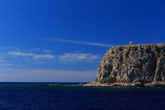 Venetian fortress on the island Gramvousa, Greece Stock Photos