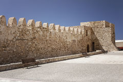 Venetian fortress of Kales on Crete Stock Image