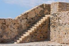 Venetian fortress of Kales, Ierapetra, Crete, Greece. Details of venetian fortress in Ierapetra city of Crete island stock photography
