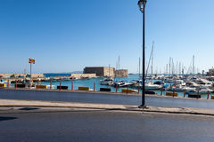 The Venetian fortress Koules. In the city of Heraklion Royalty Free Stock Photo