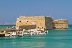 Venetian fortress Koules in Heraklion. Crete Royalty Free Stock Photos
