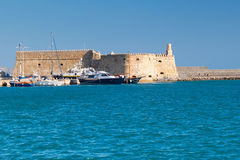 Venetian fortress Koules in Heraklion Royalty Free Stock Image