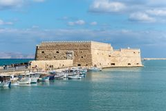 Venetian fortress Koules in Heraklion, Crete Stock Images