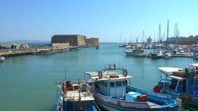 Venetian Fortress Koules Heraklion, Crete stock footage