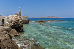 Venetian fortress in Naousa town, Paros island, Cyclades Royalty Free Stock Photography