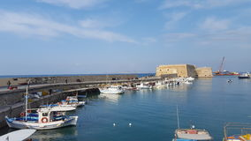 Venetian Fortress. At the port of heraklion Royalty Free Stock Image