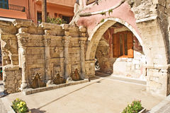 Venetian fountain in Chania, Crete. Royalty Free Stock Photo