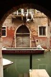 Venetian garage Arkivfoto