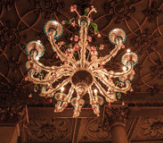 venetian glass chandelier Royalty Free Stock Photography