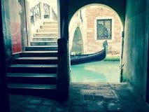 Venetian gondol Italien Royaltyfria Bilder