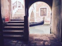 Venetian gondol Italien Arkivbild
