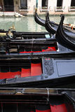 Venetian gondola boats Royalty Free Stock Photos