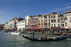 Venetian gondola on canal grande Royalty Free Stock Photography