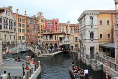 Venetian Gondola at Mediterranean Harbor, Tokyo DisneySea Royalty Free Stock Photo
