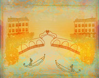 Venetian gondola. Royalty Free Stock Image