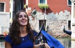 Venetian gondola ride Stock Photo