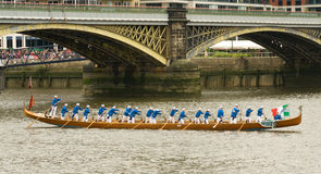 Venetian Gondola at the Thames Pageant Stock Photo