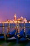 Venetian gondolas royalty free stock photo