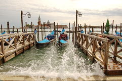 Venetian gondolas Stock Photography